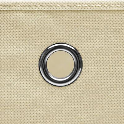 vidaXL Kutije za pohranu od netkane tkanine 10 kom 28x28x28 cm krem