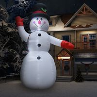 vidaXL Božićni snjegović na napuhavanje LED IP44 600 cm XXL
