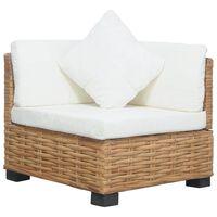 vidaXL Kutna sofa od prirodnog ratana s jastucima