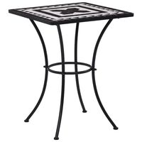 vidaXL Bistro stolić s mozaikom crno-bijeli 60 cm keramički