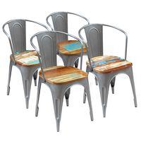 vidaXL Blagovaonske stolice od obnovljenog drva 4 kom