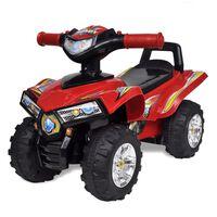Crveni Dječji Motocikl na 4 Kotača s Zvučnim i Svjetlosnim Efektima