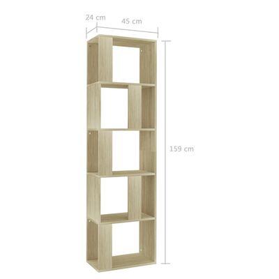 vidaXL Ormarić za knjige / pregrada boja hrasta 45x24x159 cm iverica