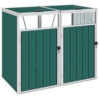 vidaXL Spremište za 2 kante za smeće zeleno 143 x 81 x 121 cm čelično