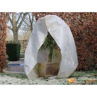 Nature zimski pokrov od flisa s patentom 70 g/m² bež 2 x 2,5 m
