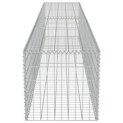 vidaXL Gabionski zid s poklopcima od pocinčanog čelika 300 x 50 x 50 cm
