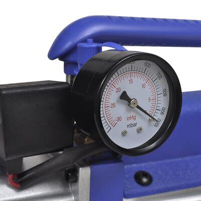 vidaXL Jednostupanjska vakuumska crpka s 2-smjernim mjeračem tlaka