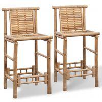 vidaXL Barski stolci od bambusa 2 kom