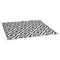 Bo-Camp vanjski tepih Chill mat Lounge 2,7 x 2 m crno-bijeli