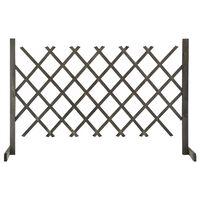 vidaXL Vrtna rešetkasta ograda siva 120 x 90 cm od masivne jelovine