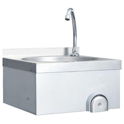 vidaXL Umivaonik sa slavinom i dozatorom za sapun nehrđajući čelik