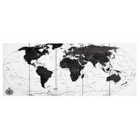 vidaXL Set zidnih slika na platnu s kartom svijeta bijeli 150 x 60 cm