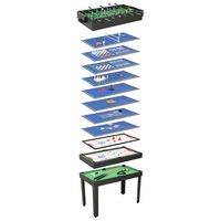 vidaXL 15-u-1 stol s više igara 121 x 61 x 82 cm crni