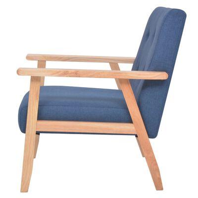 vidaXL Fotelja od tkanine plava