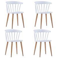 vidaXL Blagovaonske stolice 4 kom bijele plastične