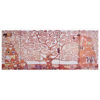 vidaXL Set zidnih slika na platnu s uzorkom stabla žuti 200 x 80 cm