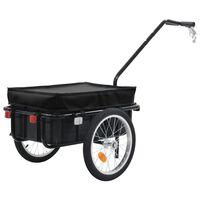 vidaXL Prikolica za bicikl / ručna kolica 155 x 61 x 83 cm čelična crna
