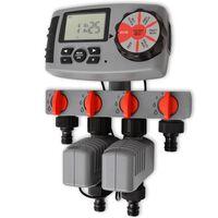 42352 vidaXL Automatsko navodnjavanje s 4 postaje 3 V