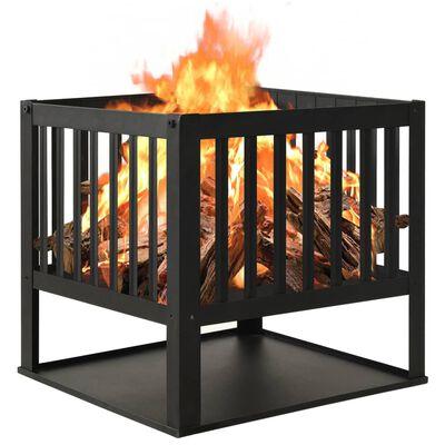 vidaXL Posuda za vatru 40 x 40 x 40 cm čelična