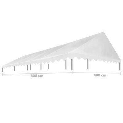 vidaXL Krov za šator za zabave 4 x 8 m bijeli 450 g/m²