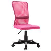 vidaXL Uredska stolica ružičasta 44 x 52 x 100 cm od mrežaste tkanine