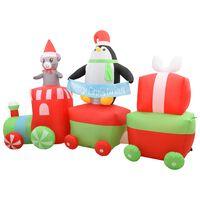 vidaXL Božićni pingvin i miš na napuhavanje na vlaku LED IP44 350 cm