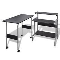 Crni uredski stol za računalo podesiva radna stanica
