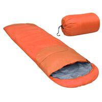 vidaXL Lagana vreća za spavanje narančasta 15 ℃ 850 g