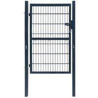 Tamno siva 2D vrata ograde (Mono) 106 x 190 cm