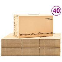 vidaXL Kutije za selidbu kartonske XXL 40 kom 60 x 33 x 34 cm
