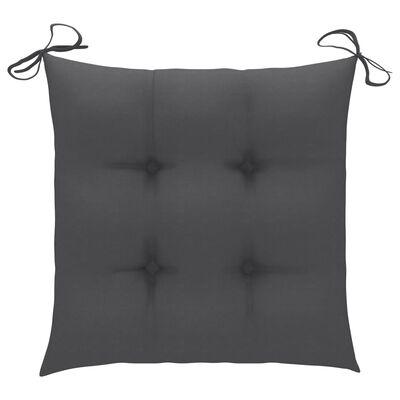 vidaXL Jastuci za stolice 2 kom antracit 40 x 40 x 7 cm od tkanine