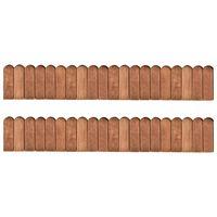 vidaXL Rolane ograde 2 kom 120 cm od impregnirane borovine