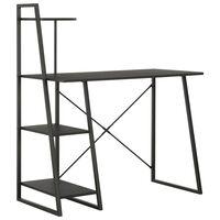 vidaXL Radni stol s policama crni 102 x 50 x 117 cm