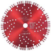 vidaXL Dijamantni disk za rezanje s turbo segmentima i rupama 230 mm