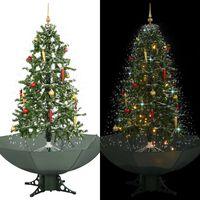 vidaXL Božićno drvce koje sniježi sa stalkom zeleno 170 cm