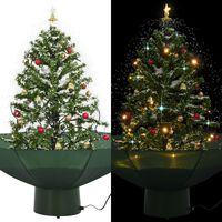 vidaXL Božićno drvce koje sniježi sa stalkom zeleno 75 cm