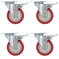 vidaXL Okretni kotačići s dvostrukim kočnicama 4 kom 100 mm
