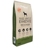 vidaXL Premium suha hrana za pse Maxi Adult Essence Beef & Chicken 15 kg