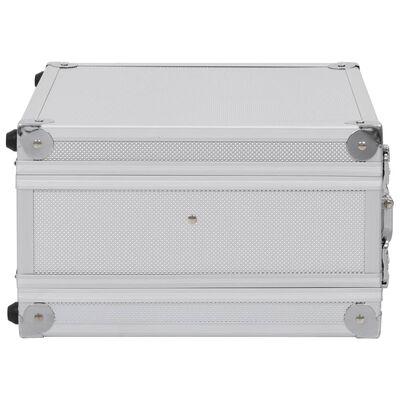 vidaXL Kutija za oružje aluminijska ABS srebrna
