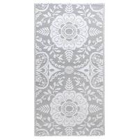 vidaXL Vanjski tepih svjetlosivi 80 x 150 cm PP