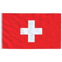 vidaXL Švicarska zastava 90 x 150 cm