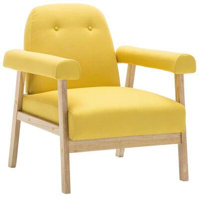 vidaXL Fotelja od tkanine žuta