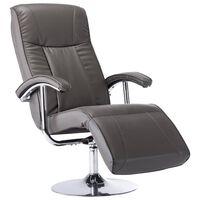 vidaXL TV fotelja od umjetne kože siva