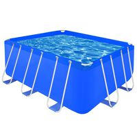 Above Ground Swimming Pool Steel Frame Rectangular 400 x 207 x 122 cm