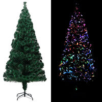 vidaXL Umjetno božićno drvce sa stalkom zeleno 240 cm optička vlakna