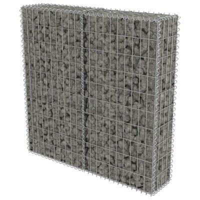 vidaXL Gabionski zid s poklopcima od pocinčanog čelika 100 x 20 x 100 cm