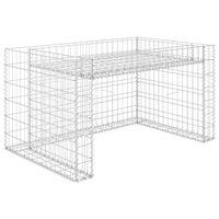 vidaXL Garaža za kosilicu s gredicom 110 x 80 x 60 cm čelična žica