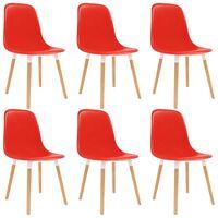 vidaXL Blagovaonske stolice 6 kom crvene plastične