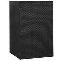 vidaXL Spremište za 1 kantu za smeće crno 76 x 78 x 120 cm poliratan