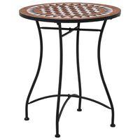 vidaXL Bistro stolić s mozaikom smeđi 60 cm keramički